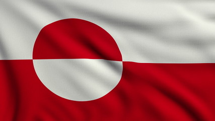 Flag of Greenland looping