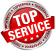 """Button Banner """"Topservice"""" rot/silber"""