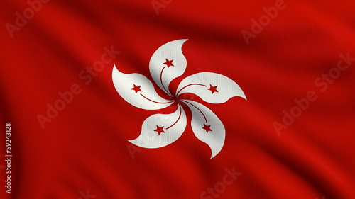 Flag of Hong Kong looping