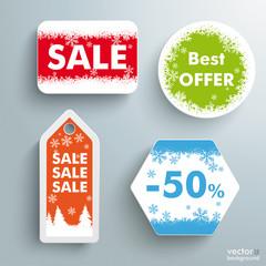 Christmas Sale Price Sticker