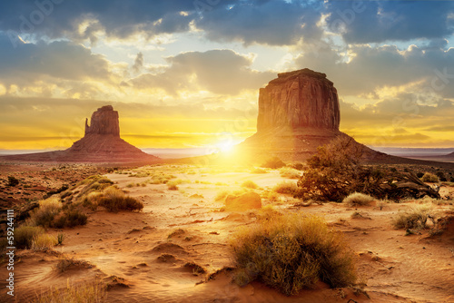 Leinwanddruck Bild Monument Valley