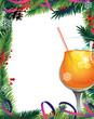 Christmas tree and cocktail