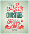 Merry Christmas and Happy New Year typographic design.