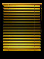golden Venetian blind