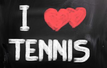 I Love Tennis Concept