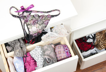 Drawers filled with sexy lace lingerie