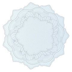 Guilloche pattern, watermark, rosette (money, voucher, currency)