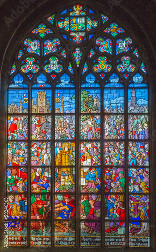 Antwerp - Windowpane from cathedral of Our Lady