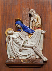 Verona - Pieta - ceramic coss way - Nicholas church