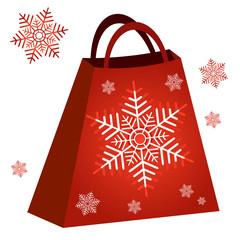 Shopping red bag