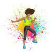 Fitness Girl Latina dancing Zumba