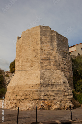 Nuns Tower (Tour des Mourgues, XIV c.) in Arles, France