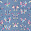 Seamless pattern of butterflies