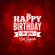 happy birthday sign design background