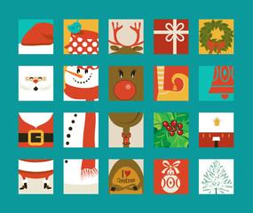 Christmas Icon Squares
