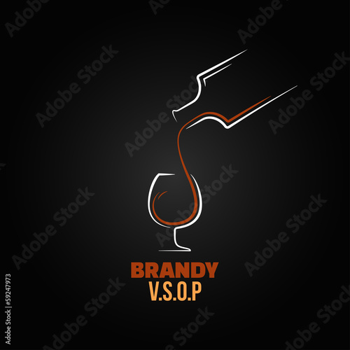 brandy glass bottle splash design background