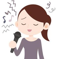 歌が苦手な女性 音痴
