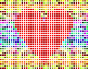 modern vector pixel valentine heart