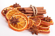 cinnamon,anise and dried orange