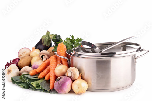 vegetable and pan