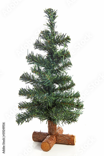 Empty plastic Christmas tree
