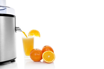 Fresh orange juice.