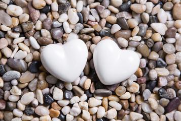 Zwei Herzen zur Hochzeit oder zu Valentin