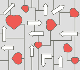 seamless heart signs pattern