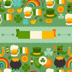 Saint Patrick's Day seamless pattern.