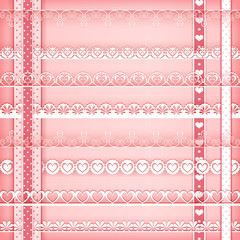 Borders collection pink