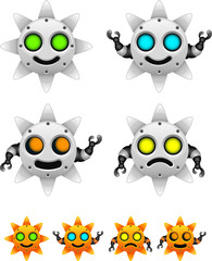 sun robot character set