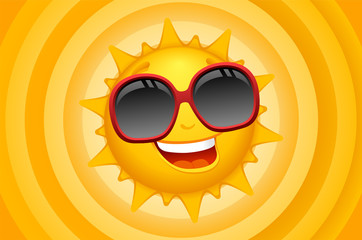 sun character with background