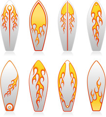 surf boards flame series