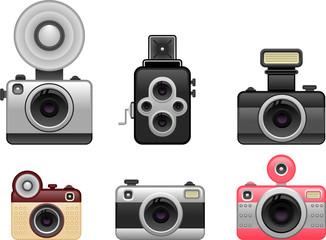 vintage cameras set 1