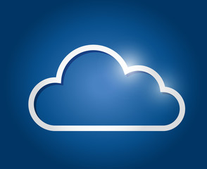 white border cloud illustration design