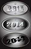 2014 New Year black and white vector design