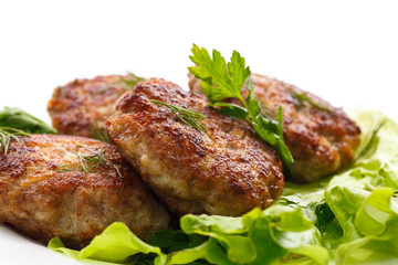 fried meatballs with herbs