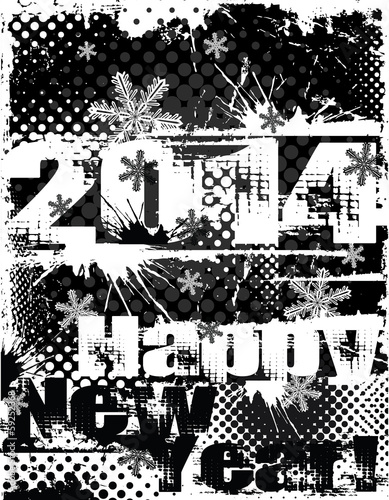 2014 Net Tear black and white distressed vector design