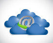 online cloud computing illustration design