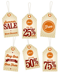 Vintage Summer Sale Labels