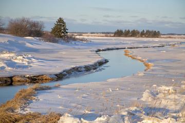 Prince Edward Island Winter Stream