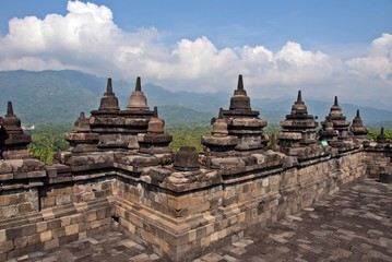 Borobodur the ancient Buddhist temple in Java, Indonesia