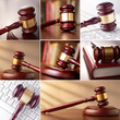 set of images of the gavel
