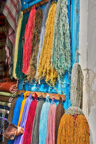 Marchand de laine dans la médina de Houmt Souk, Djerba - Tunisie