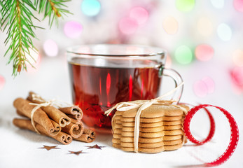 Christmas tea and cookies