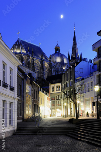 canvas print picture Aachen Dom