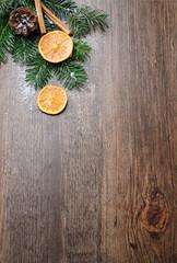 Weihnachtskarte mit Holz