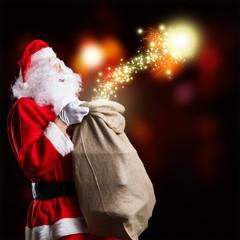Weihnachtsmann mit Weihnachtsmagie