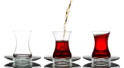 Turkish Tea in a row