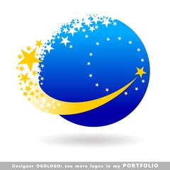 ukraine abstract business logo emblem vector